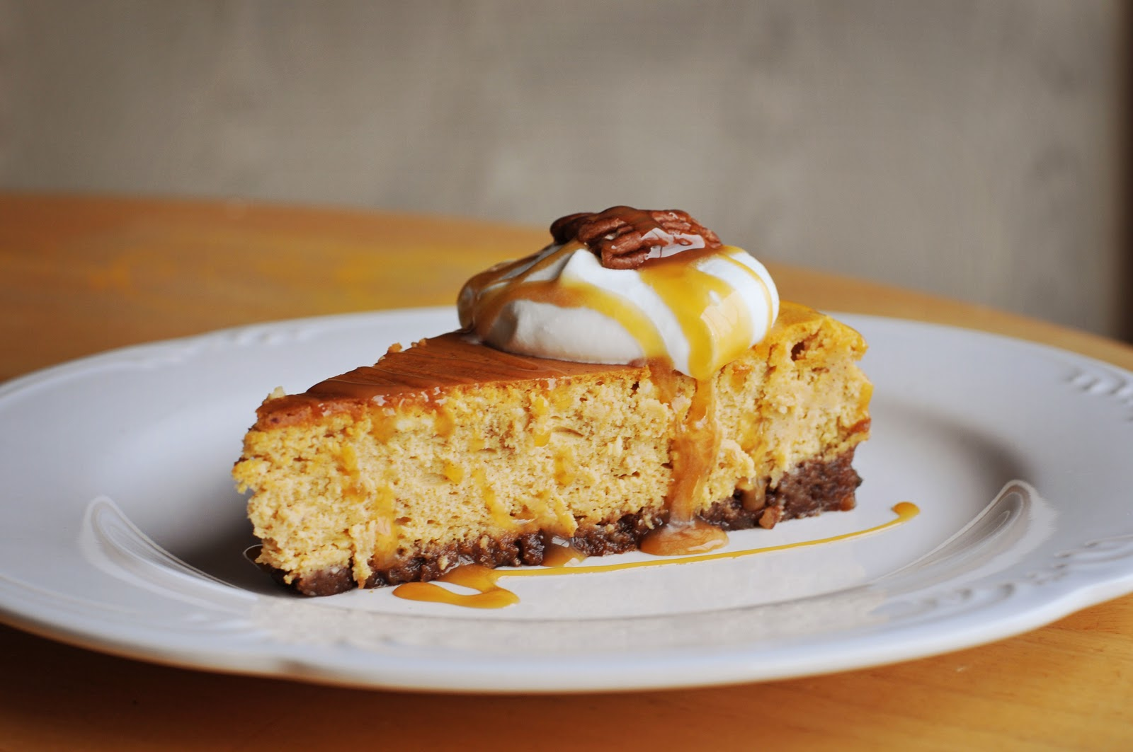 Barefoot and Baking: Pumpkin Cheesecake with Pecan-Gingersnap Crust