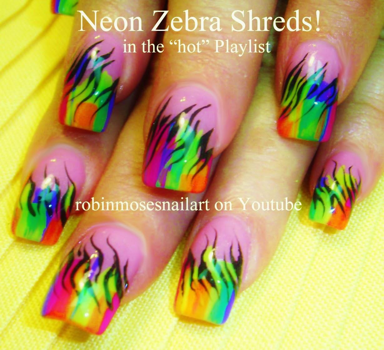 Nail Art Ideas shamrock nail art tutorial : Robin Moses Nail Art: