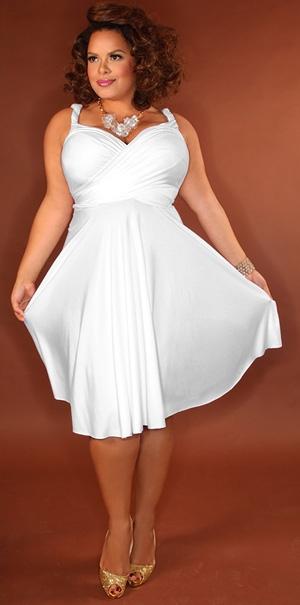 Vestidos blancos de gorditas