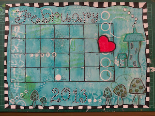 Art Journal Calendar page
