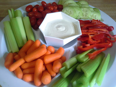 Veggie platter healthy eating