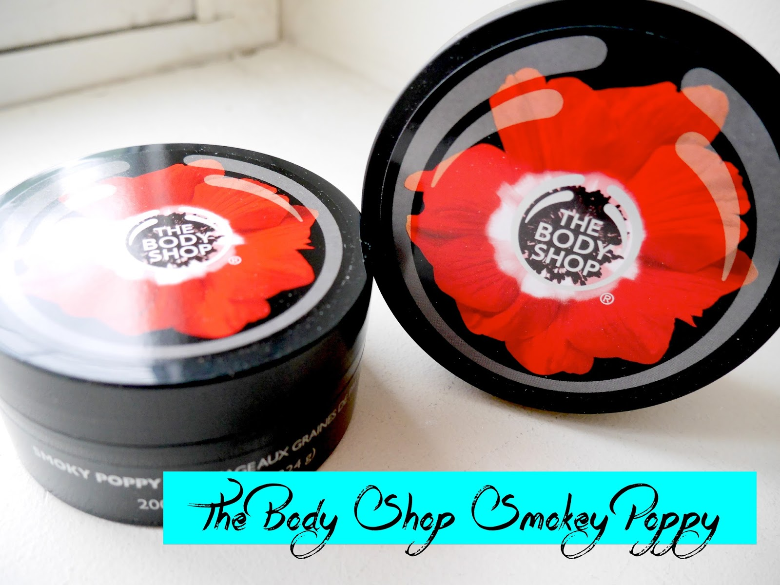 the body shop smoky poppy gommage scrub body butter review