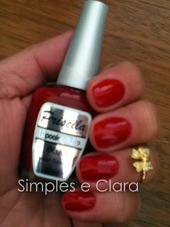 esmalte vermelho antialérgico pertence ao blog Simples e Clara