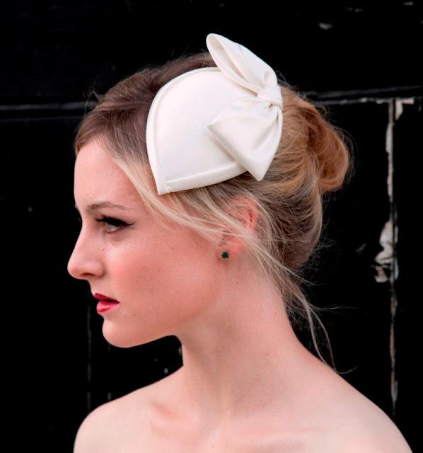 bridal teardrop hat