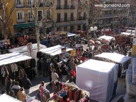 Paseo público en la capital de España