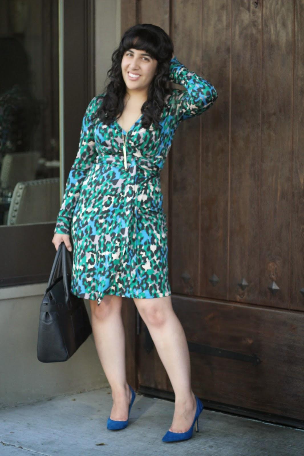 DVF Judy Leopard Print Wrap Dress
