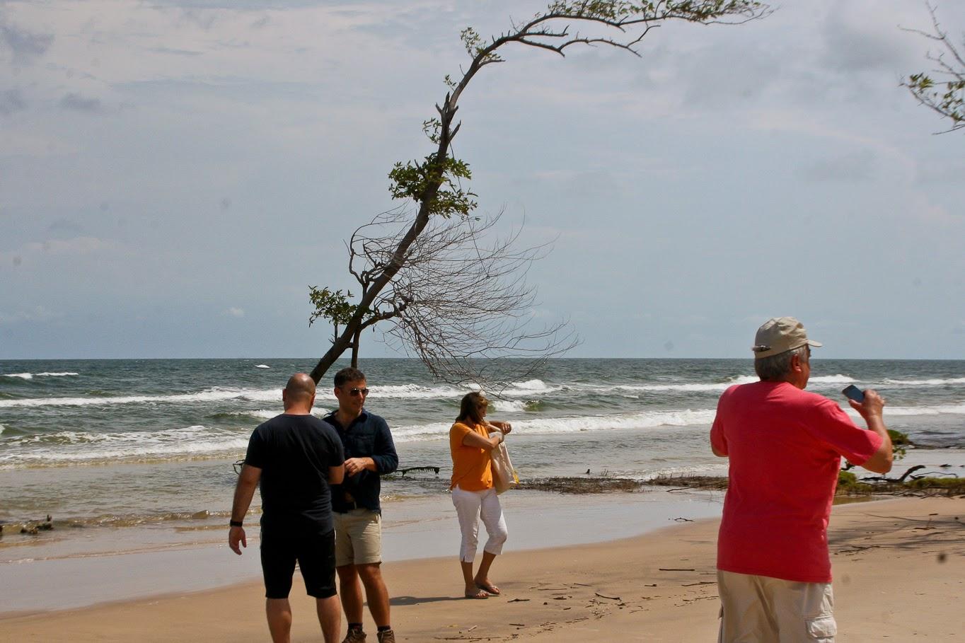 O grupo ficou estasiado com as praias de rio desertas do Marajó, bem na esquina do oceano Atlântico Foto: Benigna Soares - Paratur