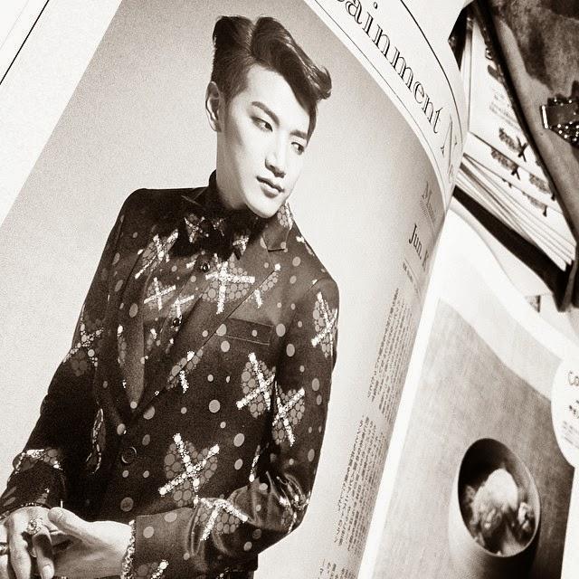 Jun K., South Korean singer appearing in Japan's anan magazine for women.
