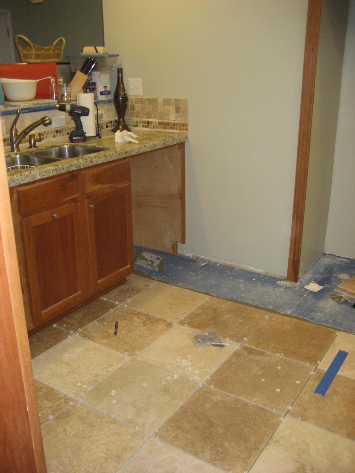 Making It Too Perfect Kitchen Post 8 Travertine Floor