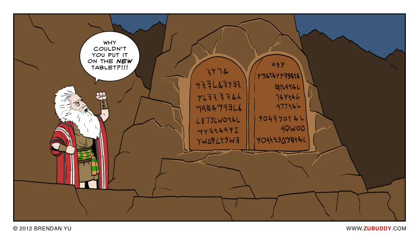 Heavy Ten Commandments Tablets