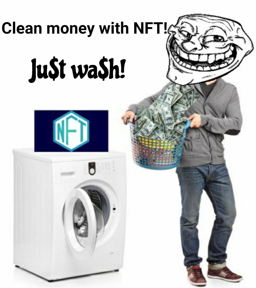 Clean money with NFT TOKENS