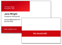 Add a call of action to your business card