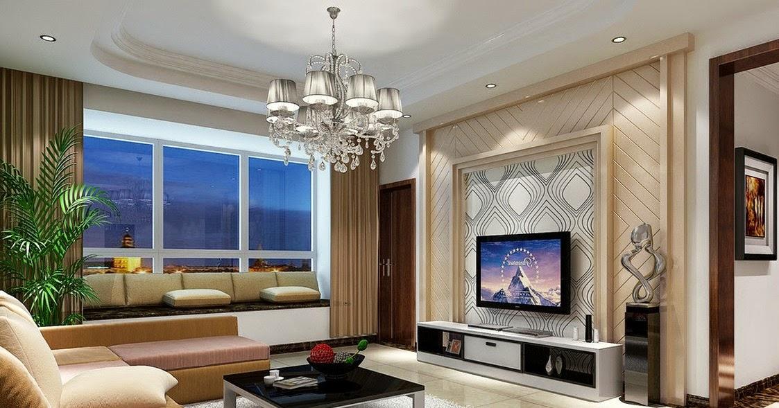 Deco salon avec tv for Salon pour maison moderne