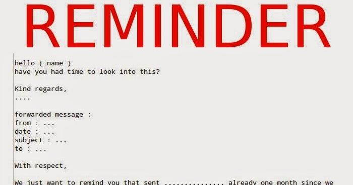 Reminder Letter Format Samples Business Letters
