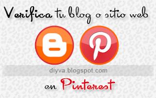 Validar blogger en Pinterest