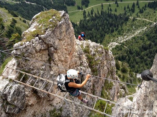 Klettersteig Wolkenstein : Sehn sucht berge stevia klettersteig