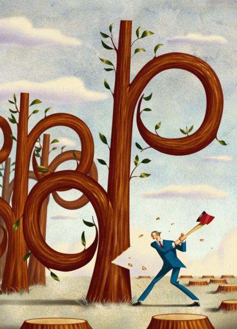 Jim Tsinganos ilustrações surreais oníricas natureza revista %