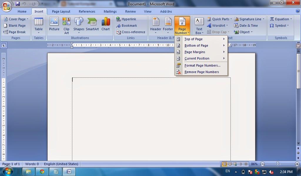 Cara Membuat Halaman Page Number Pada Microsoft Word Tutorial Ms Word Tutorial Komputer