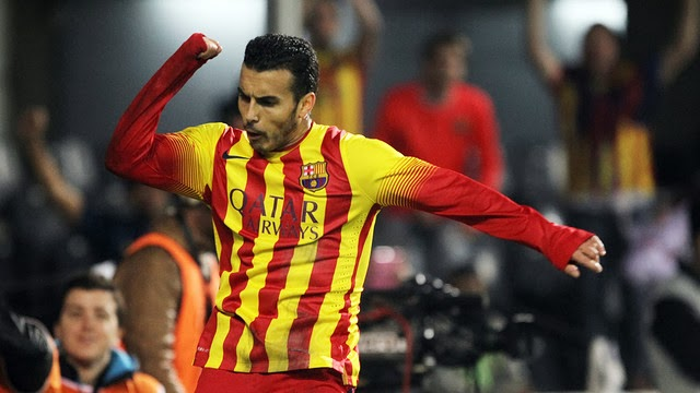 Pedro Rodriguez's Goal celebration against Cartagena