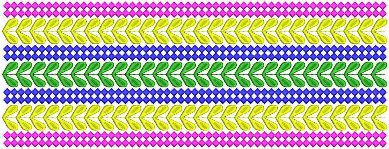 kleurvolle kant grens