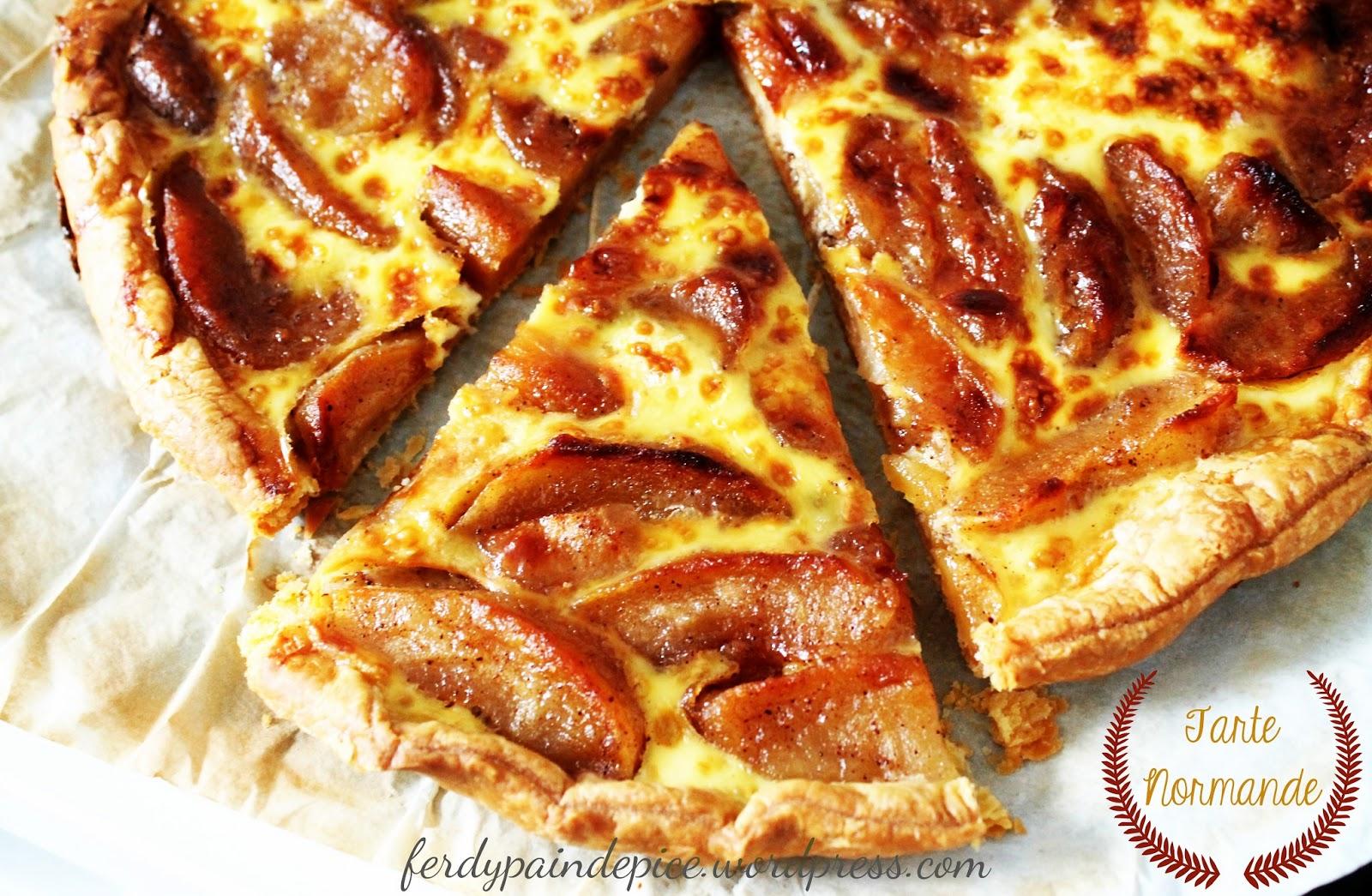Le blog culinaire d 39 une d butante tarte normande for Specialite normande cuisine