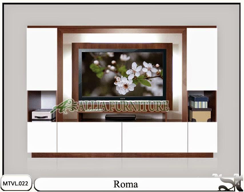 Lemari tipe tv lcd minimalis Roma
