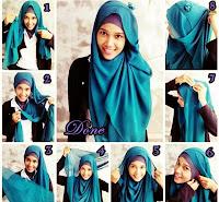 Cara Memakai Jilbab Pashmina 2