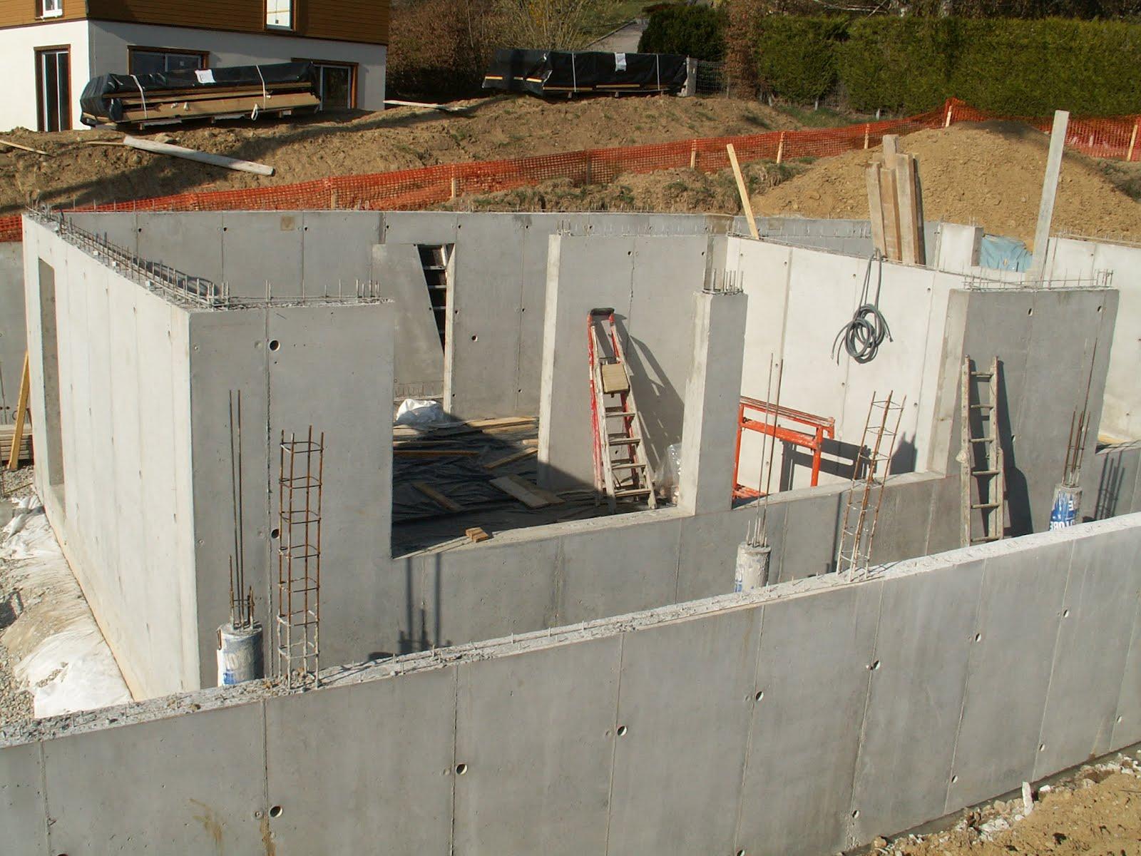 Construction d 39 une maison passive minergie p cruseilles for Construction mur interieur