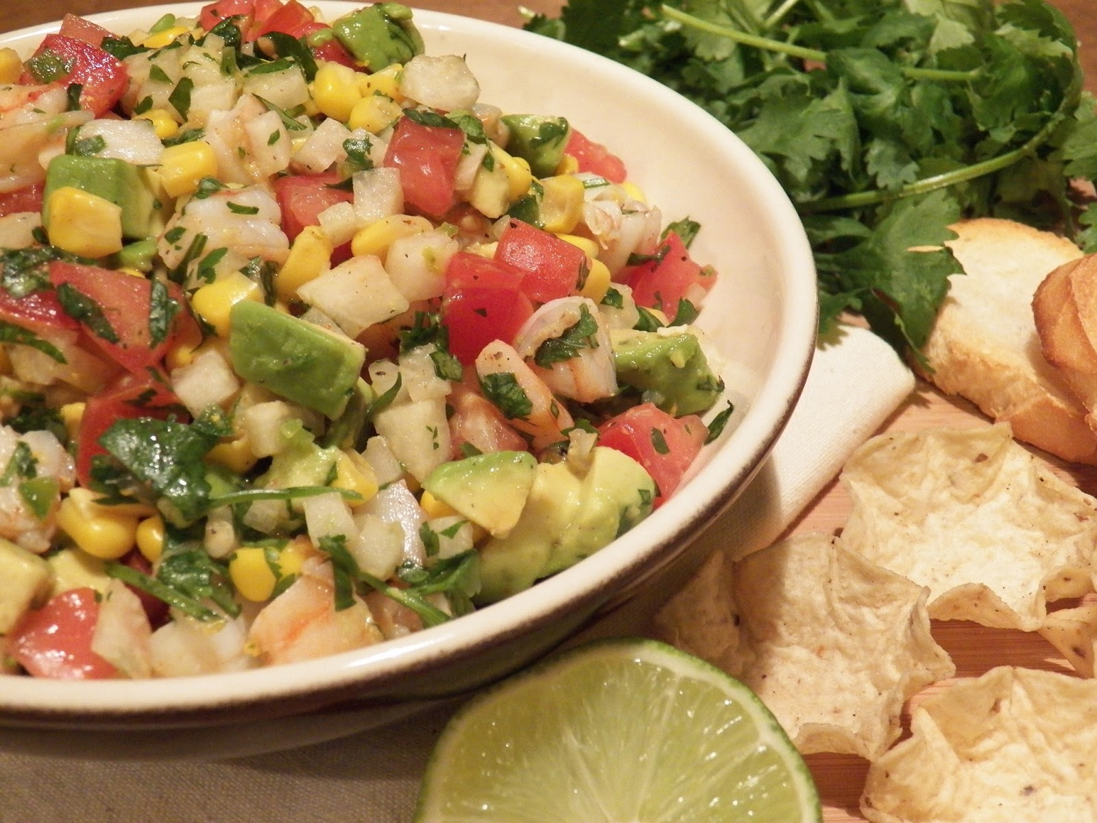 CORN AND SHRIMP SALSA | In Good Flavor | Great Recipes | Great Taste