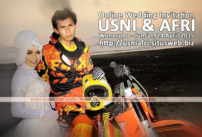 Undangan Online atas Pernikahan USNI & AFRI - 24 April 2015 di Wonosobo, Jawa Tengah