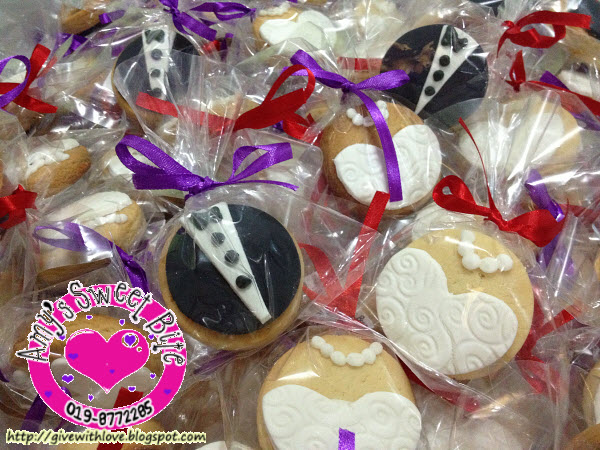 ♥♥ Amy\'s Sweet Bite ♥♥: Wedding Doorgift Cookies - Bride and ...