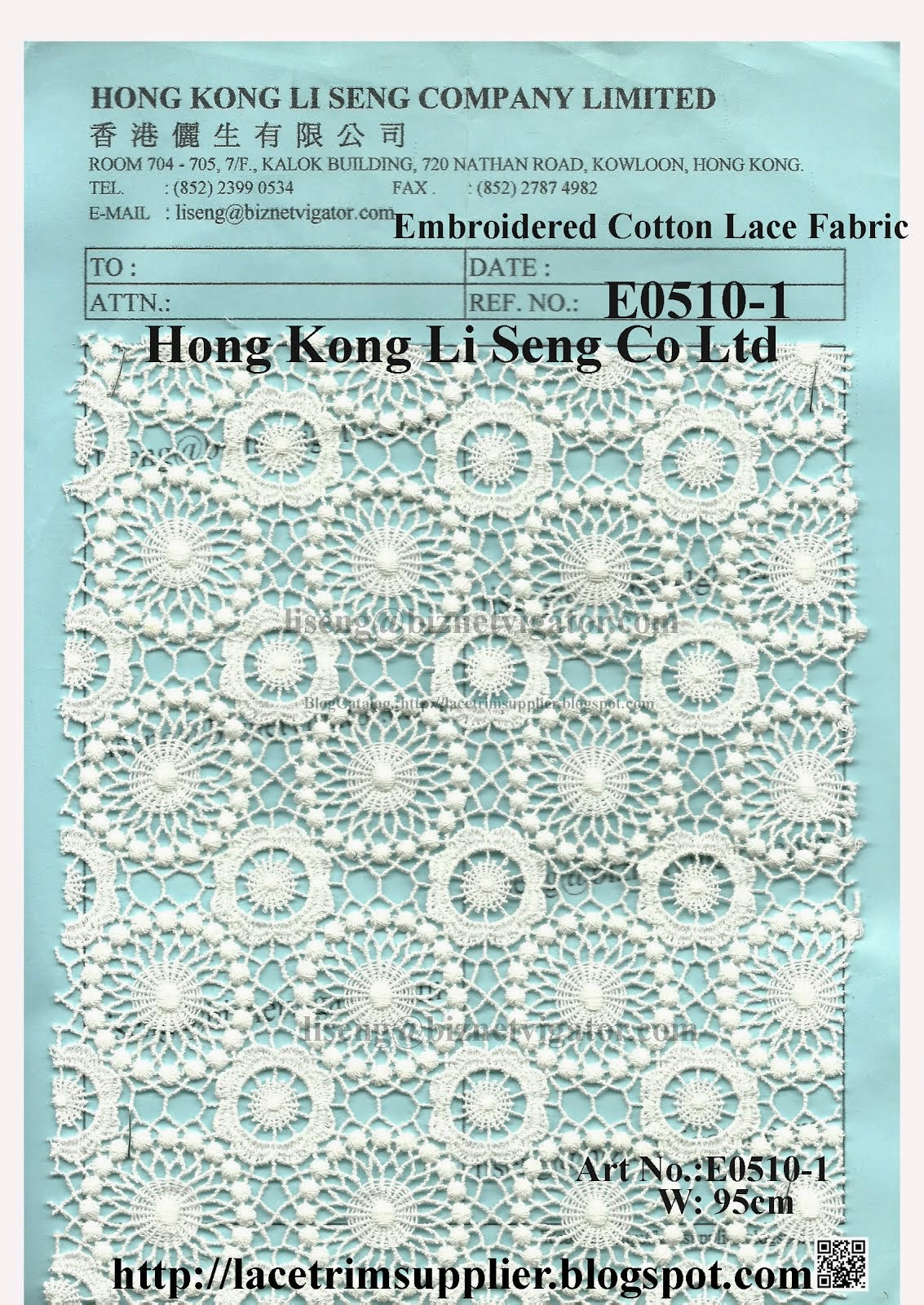 2014 New Lace Fabric Pattern Shown On - Hong Kong Li Seng Co Ltd