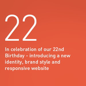 Celebrating 22 years in business - Laban Brown Design Agency Essex