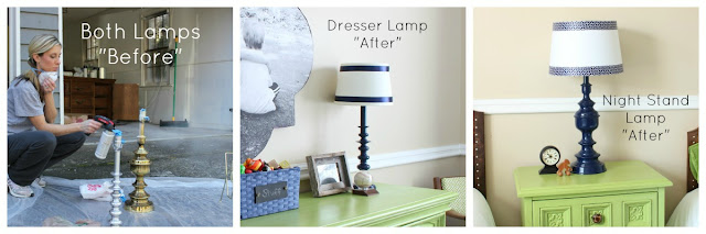 Lamps before and after