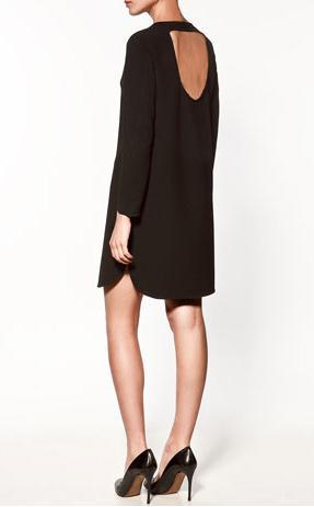 sort kjole dyb ryg