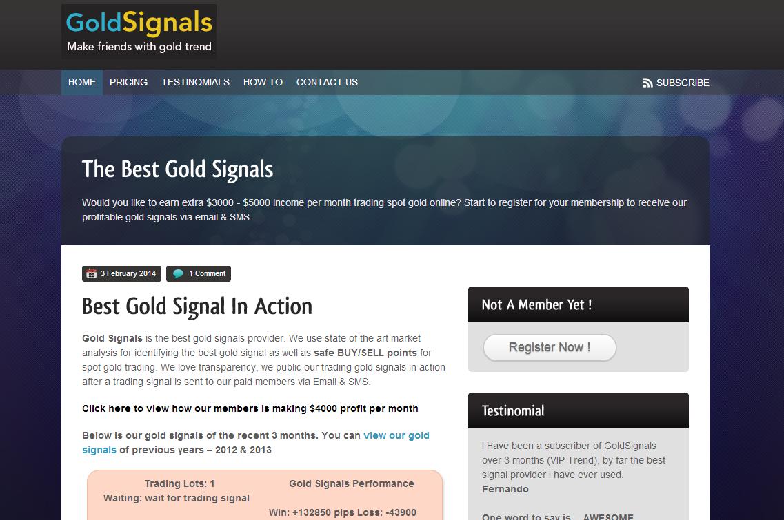 Gold Signals