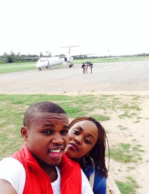 Comedian Chipukeezy with his girlfriend Vivian Kerry