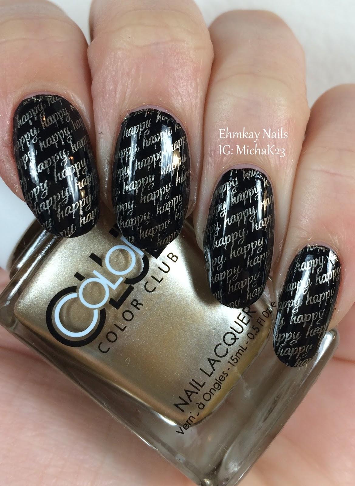 ehmkay nails: Happy New Year\'s Eve Nail Art Stamping