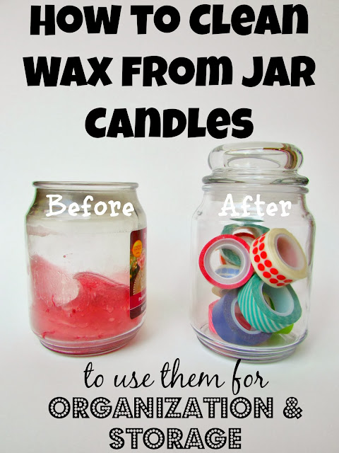 how to clean wax from candles