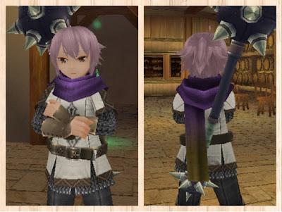 紫1染色マフラー