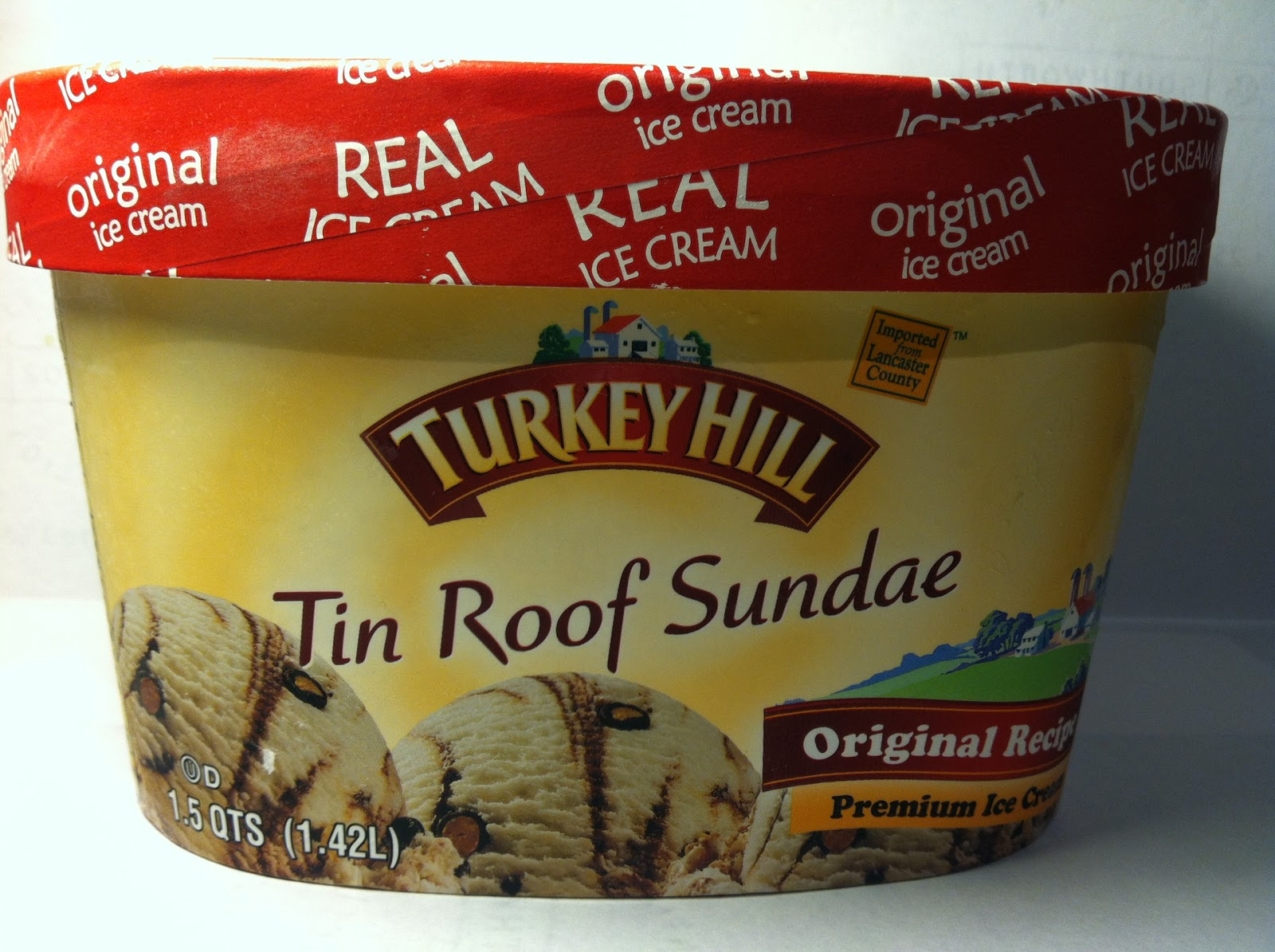 Crazy Food Dude: Review: Turkey Hill Tin Roof Sundae Ice Cream