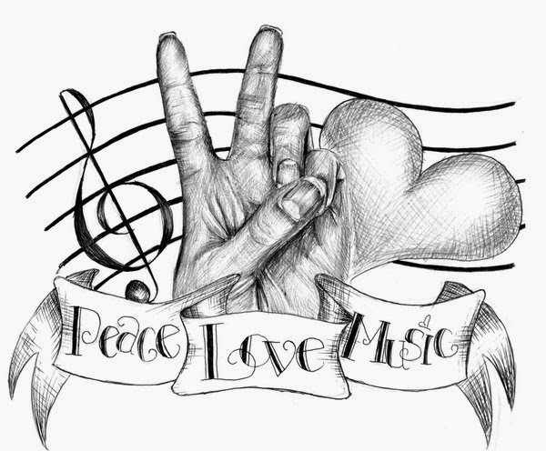Music Tattoo Sketch Music Tattoo Drawings