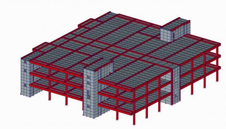 Матрица жесткости конструкции здания
