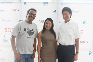Arky, Pham Le, a Japanese Investor at the event