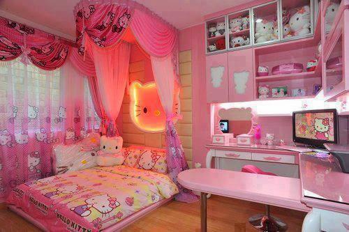 peralatan kamar tidur hello kitty