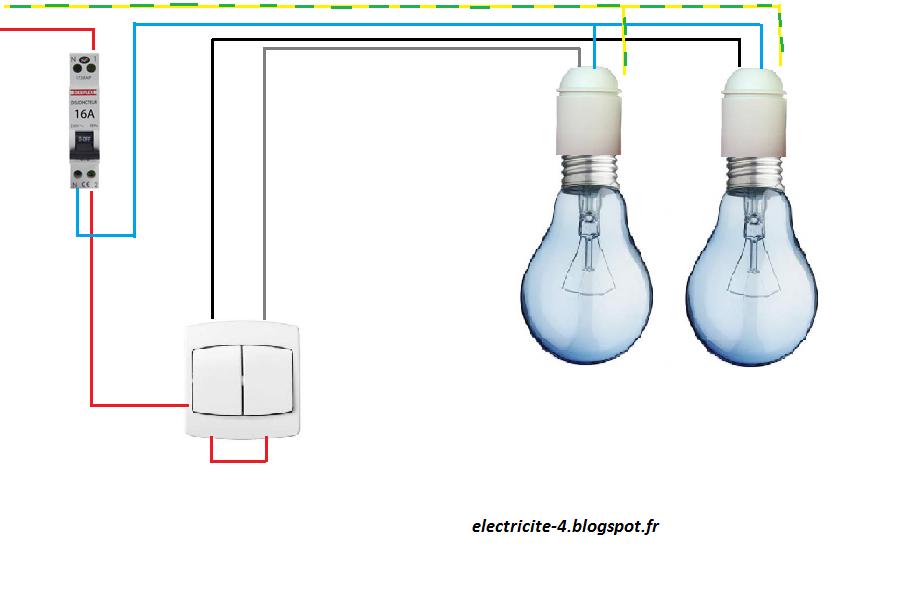 Schemas electrique for Branchement eclairage exterieur en serie