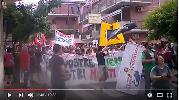 Video. Taormina. La manifestazione contro il G7