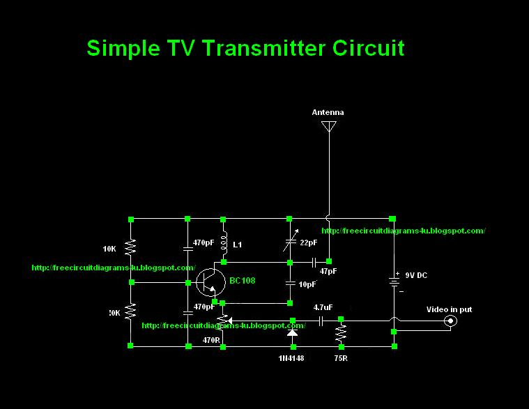 Free Circuit Diagrams 4u  Tv Transmitter Circuit Diagram  Vhf