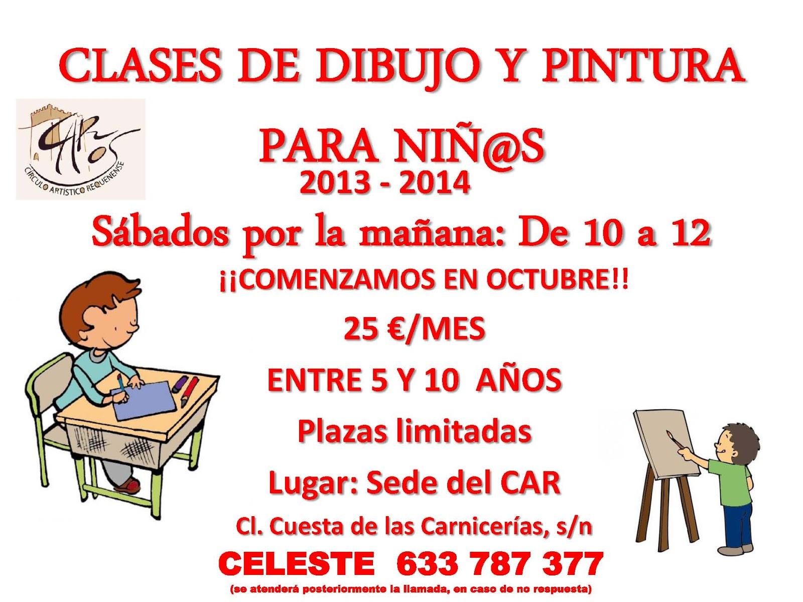 C rculo art stico requenense clases de dibujo y pintura for Clases de piscina para ninos