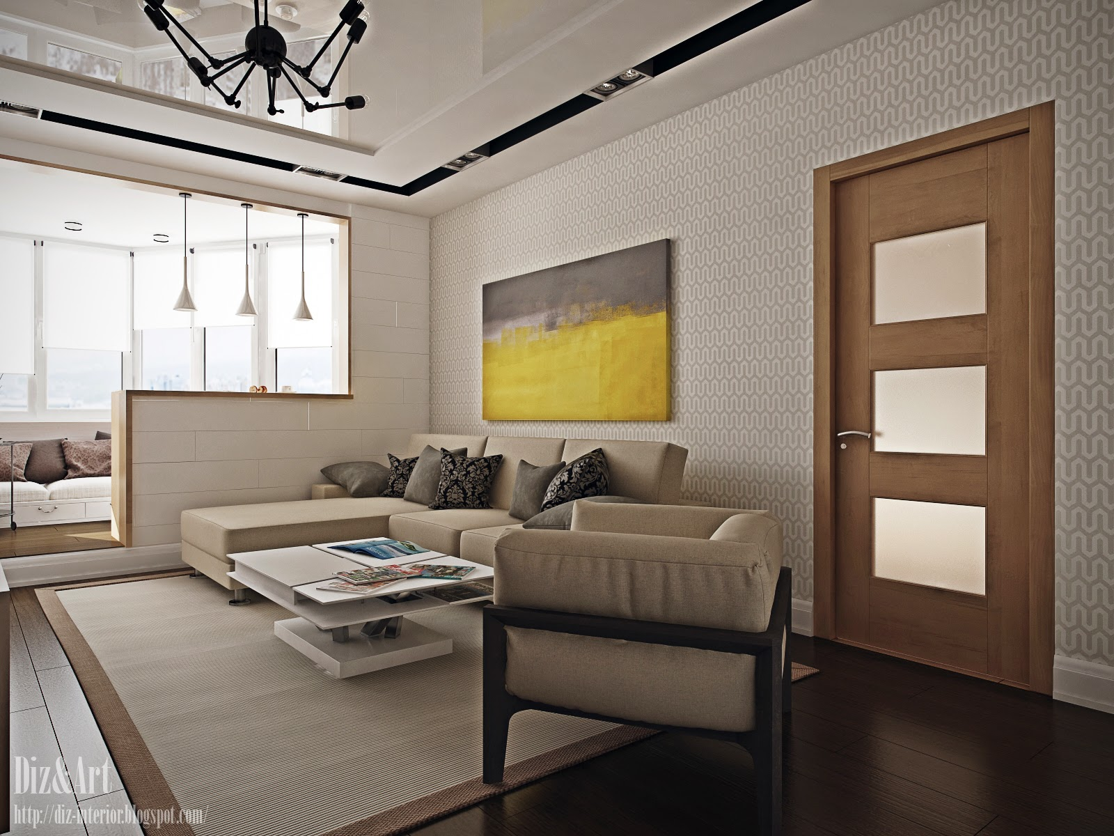 Дизайн кухни гостиной 23 кв